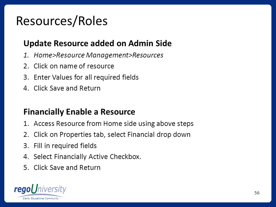 Resources/Roles Update Resource added on Admin Side