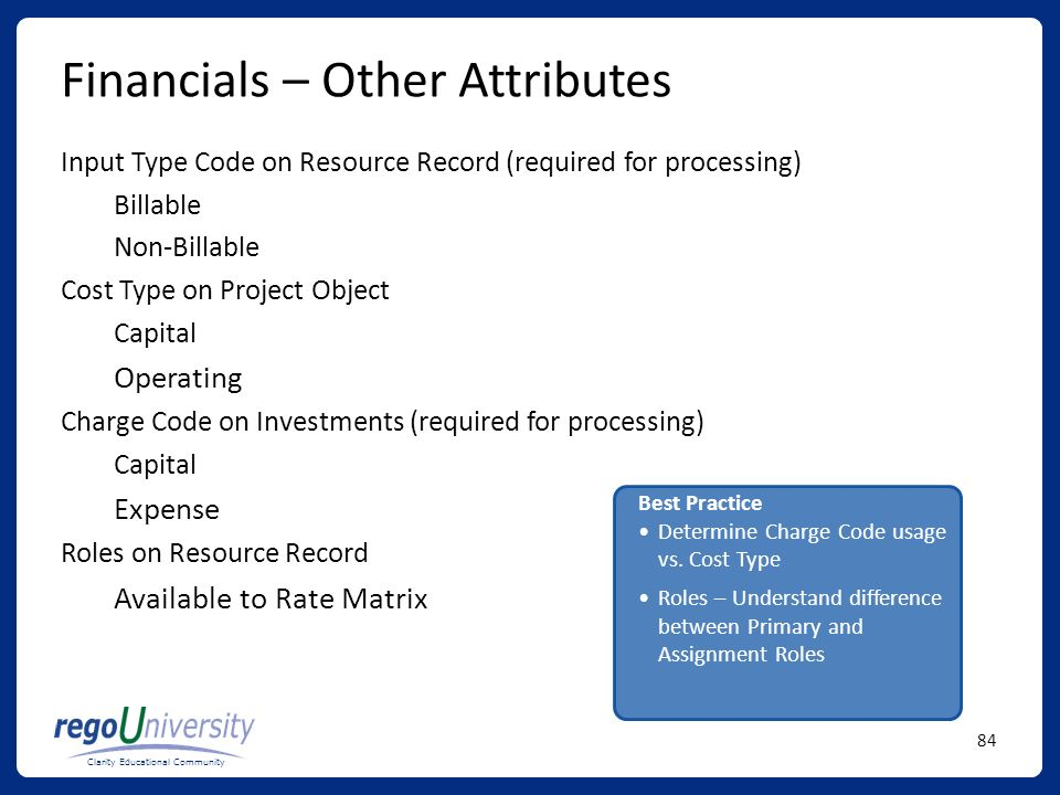 Financials – Other Attributes