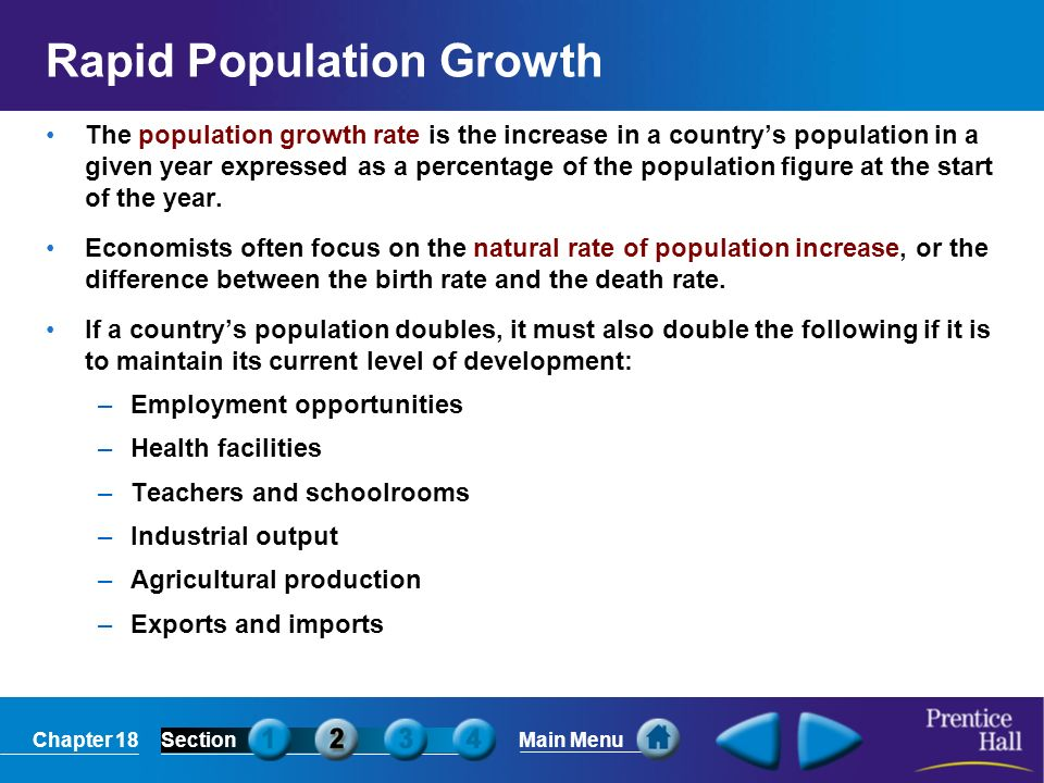 Rapid Population Growth
