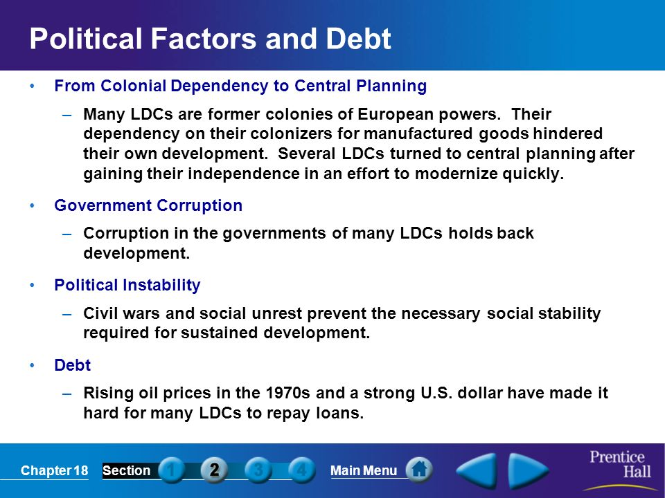 Political Factors and Debt