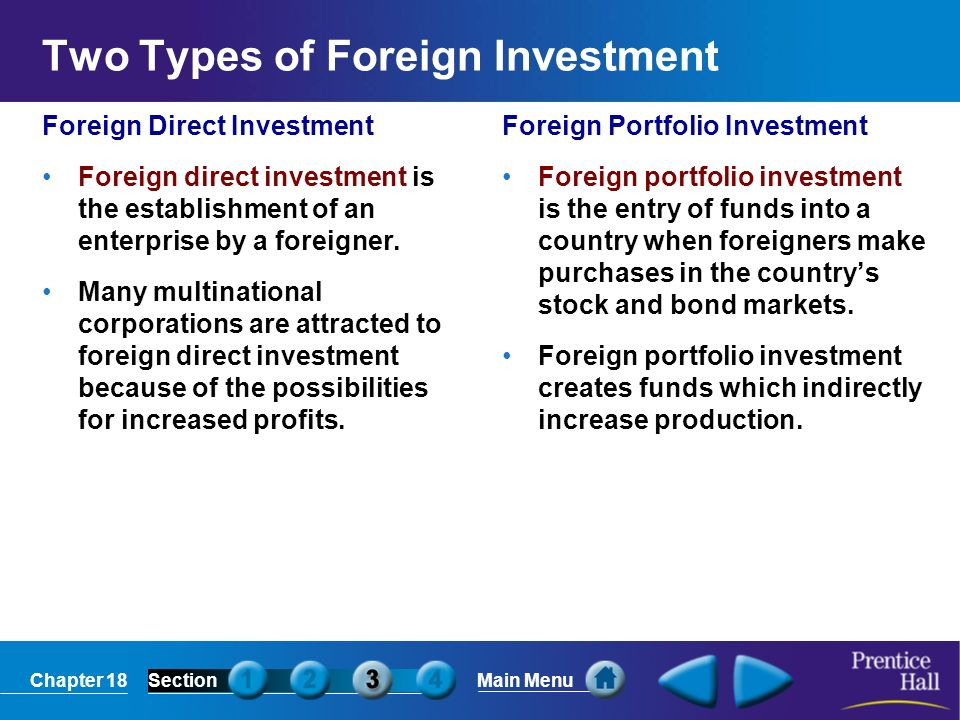 Two Types of Foreign Investment
