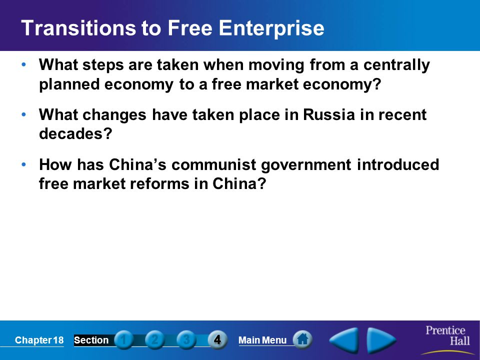 Transitions to Free Enterprise