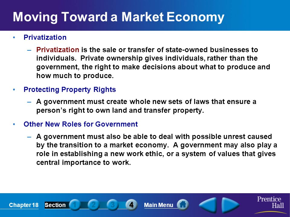 Moving Toward a Market Economy