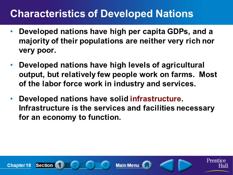 Characteristics of Developed Nations