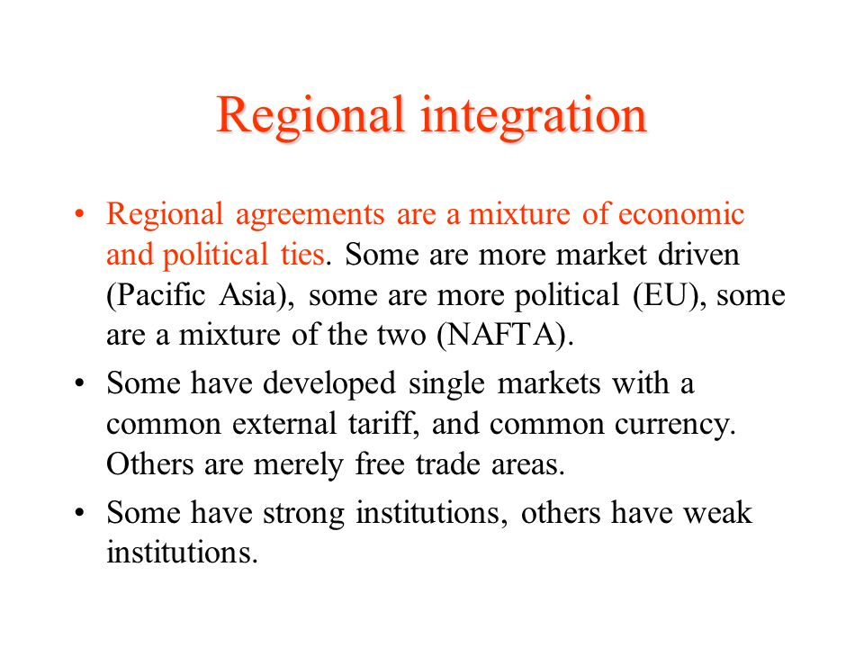 regional economic integration and nafta essay Regional economic integration - term paper - free download as pdf file (pdf), text file (txt) or read online for free.