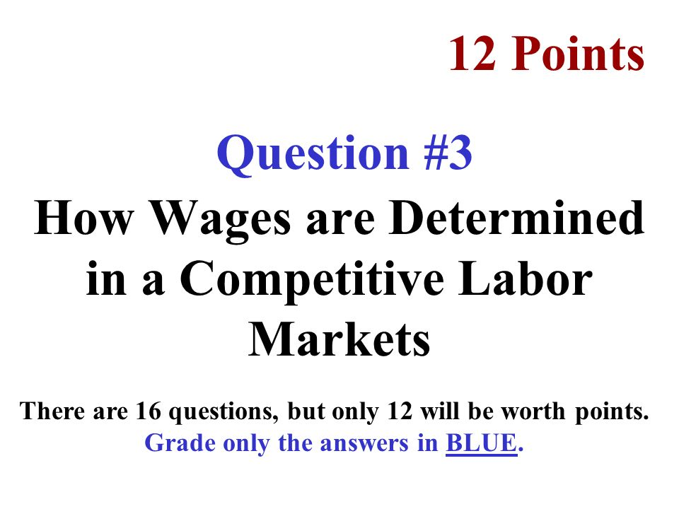 How Wages are Determined in a Competitive Labor Markets