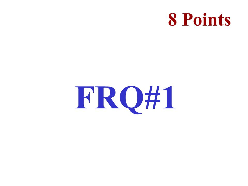 8 Points FRQ#1