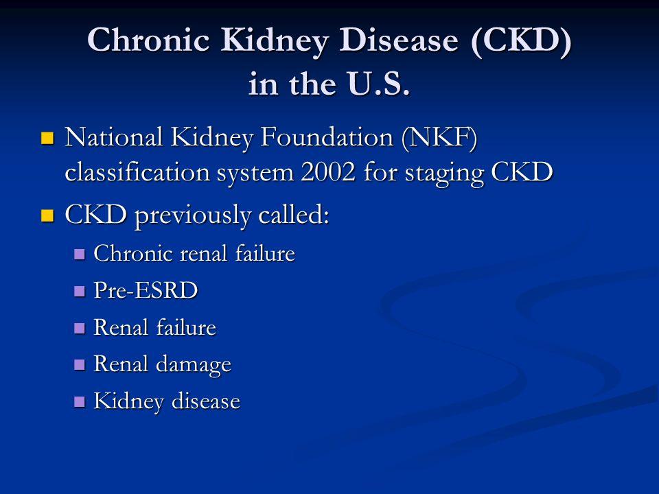 Management of anemia in chronic kidney disease ppt download chronic kidney disease ckd in the us toneelgroepblik Image collections