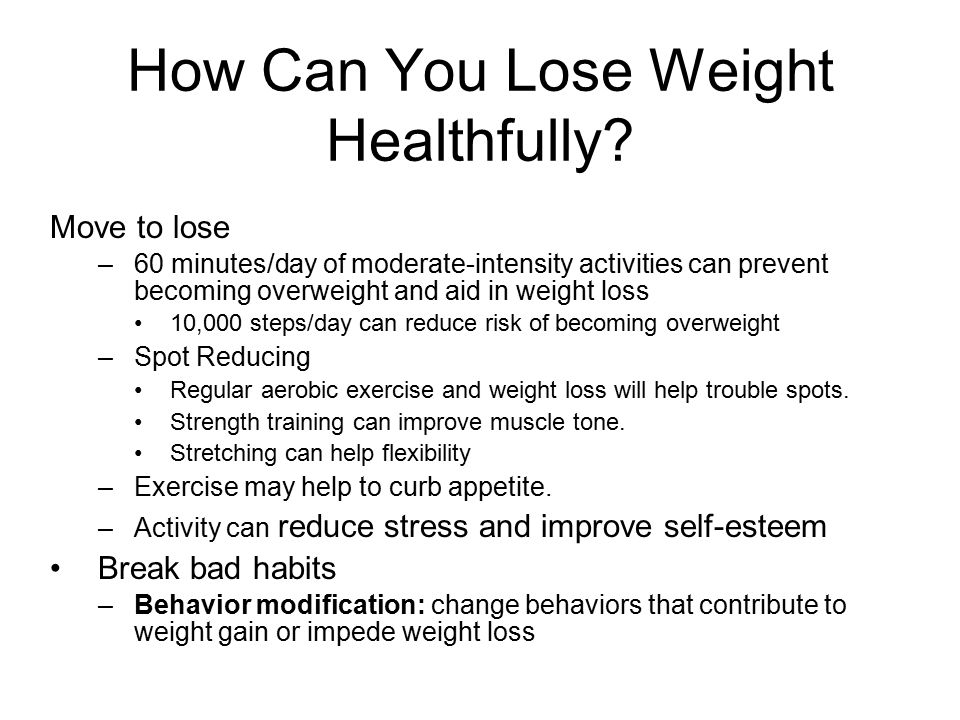 Weight management overweight and underweight ppt video online download how can you lose weight healthfully ccuart Choice Image