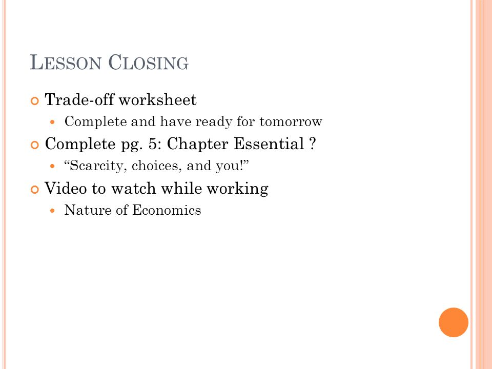 Chapter 1 What is Economics ppt video online download – Scarcity Worksheet