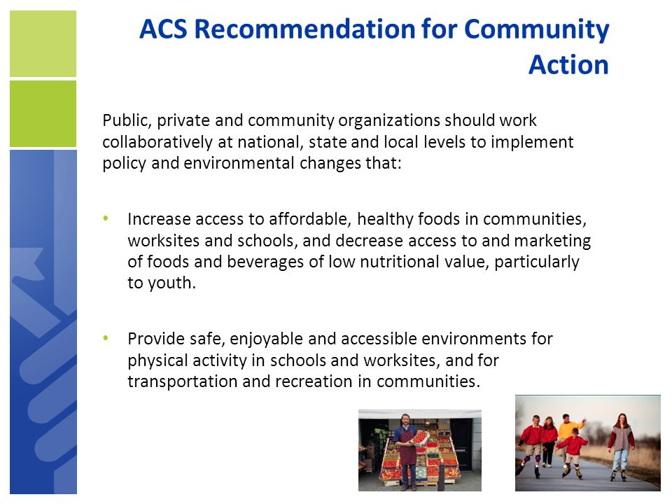 ACS Recommendation for Community Action