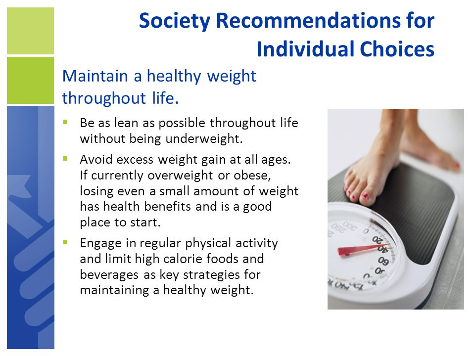 Society Recommendations for Individual Choices