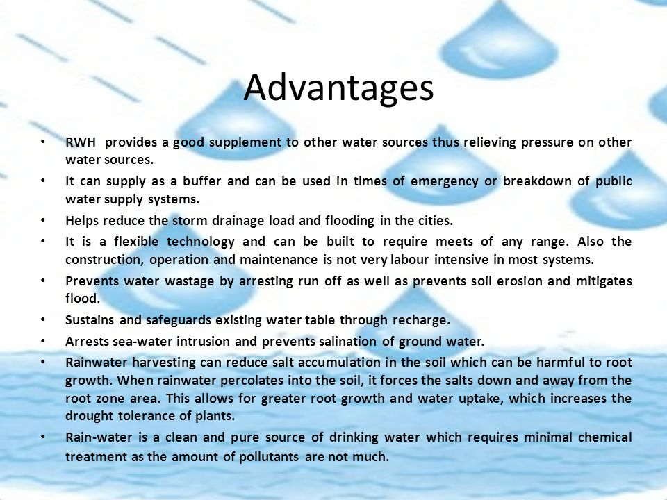 advantages of rainwater harvesting pdf