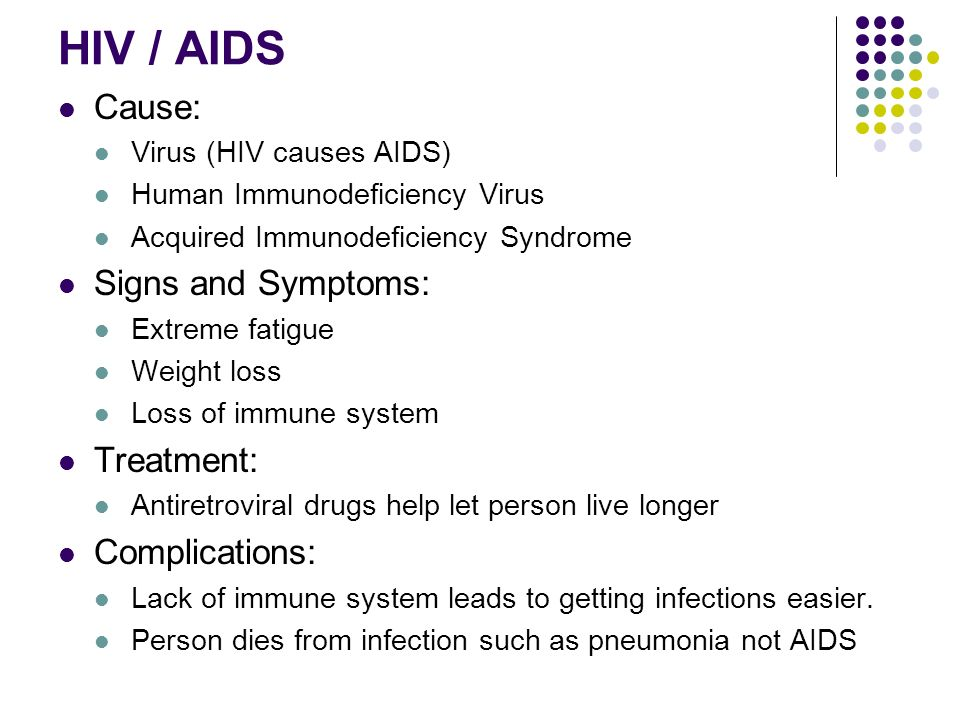 the causes and treatments of aids Information on human immunodeficiency virus (hiv), which causes aids.