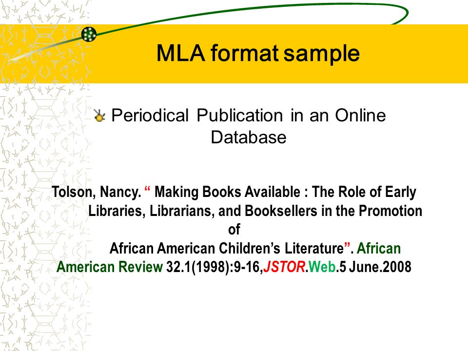 Citation Guide  MLA   th ed          SFU Library wikiHow     mla journal citation jstor