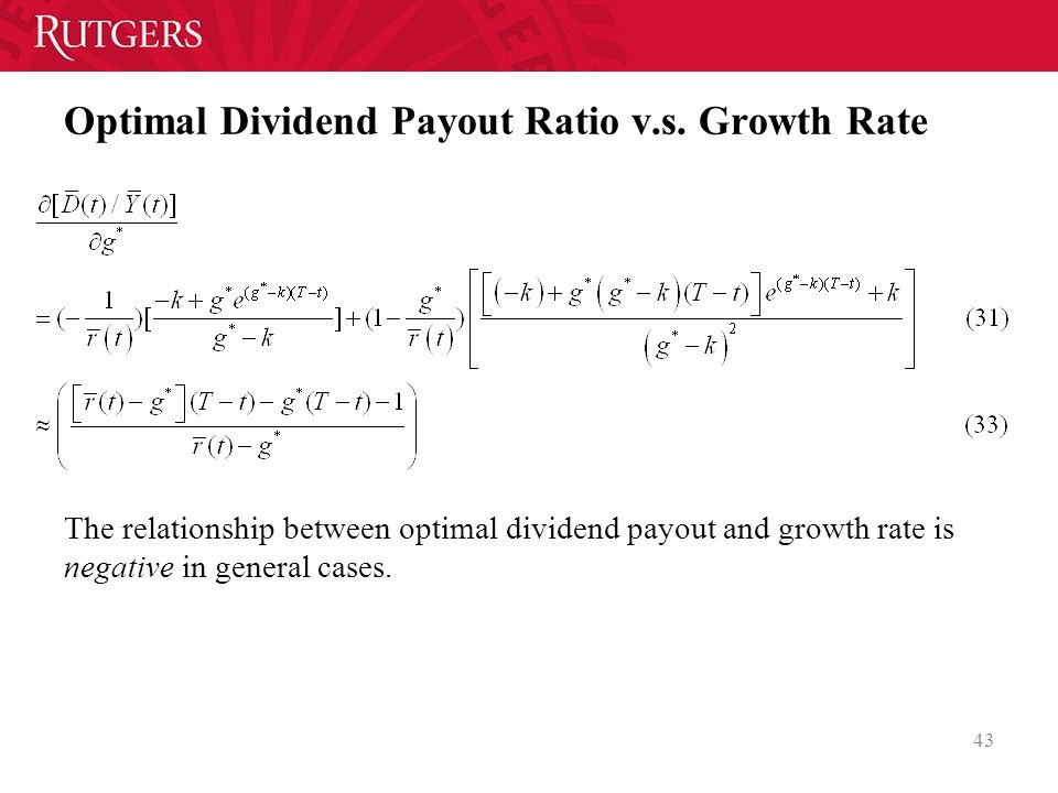 ratio growth rate relationship