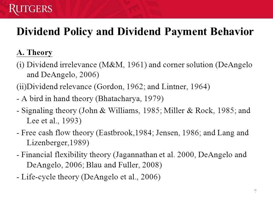 dividend signaling Common equity transactions signalling with dividends, stock repurchases, and equity issues paul asquith and david w mullins, jr paul asquith and david w mullins, jr, are members of the faculty.
