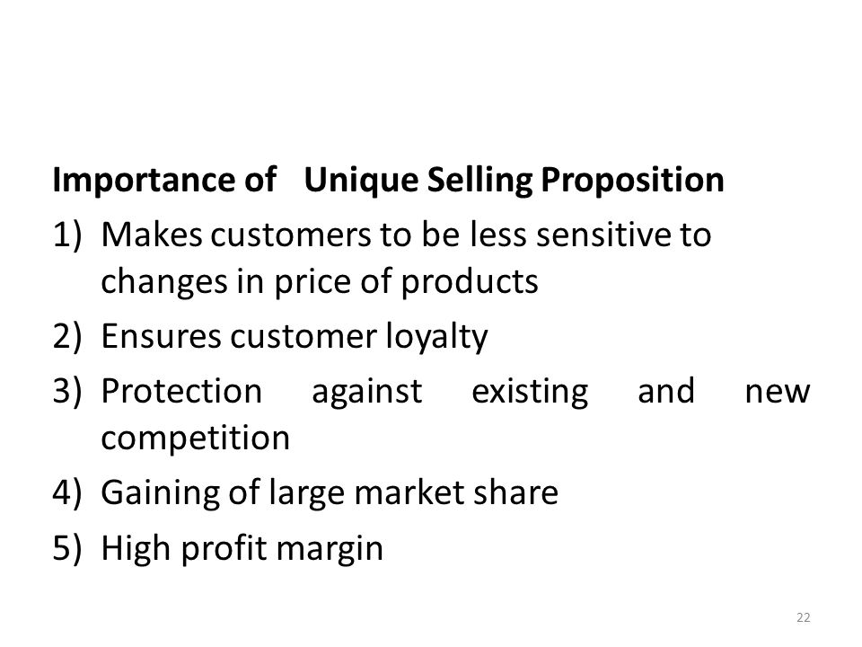 Importance of selling to company