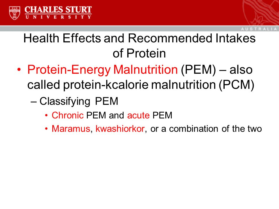 protein energy malnutrition 2 essay Protein-energy malnutrition is a condition caused by a deficient intake of energy and usually protein we named the types of protein-energy malnutrition as under weight, kwashiorkor, marasmus, marasmic –kwashiorkor, wasting and stunting.