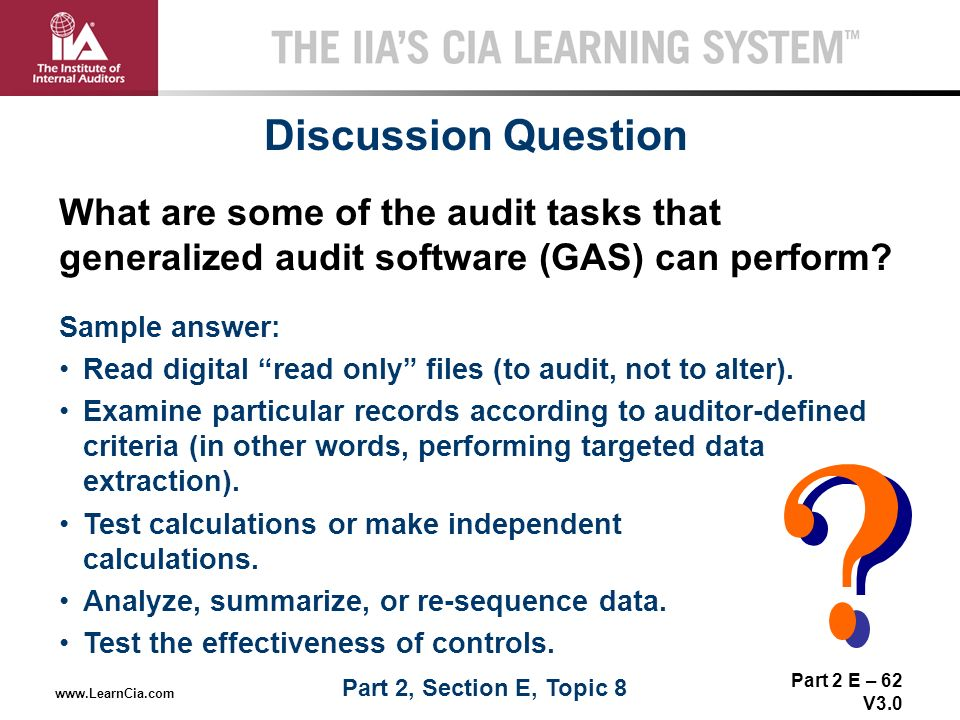 generalized audit software The utilisation of generalized audit software (gas) by external auditors aidi ahmi and simon kent department of information systems and computing.