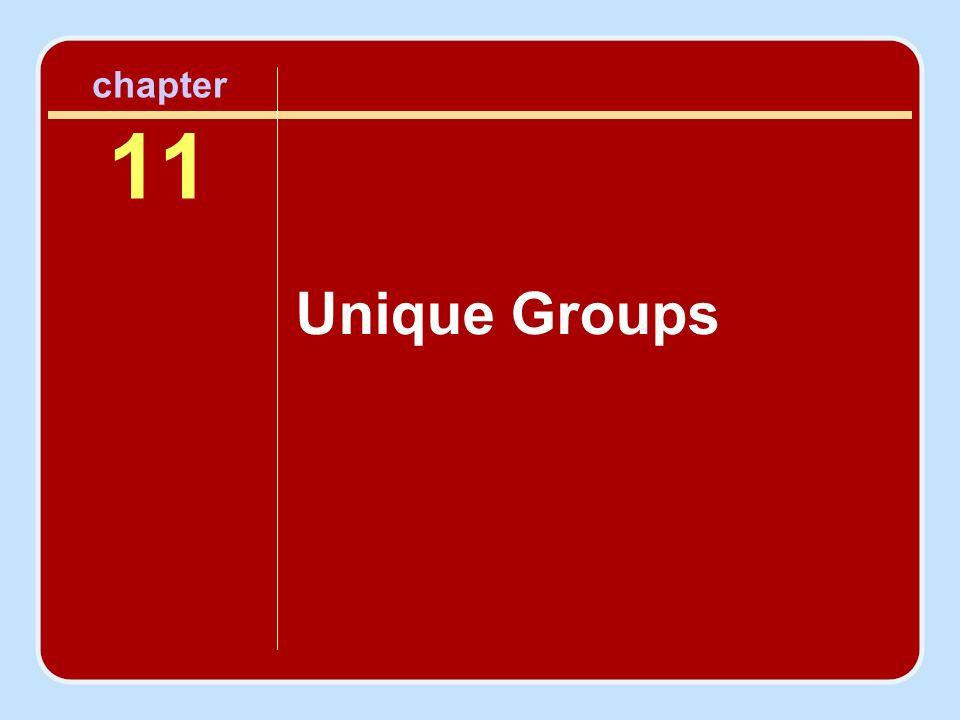 chapter 11 Unique Groups