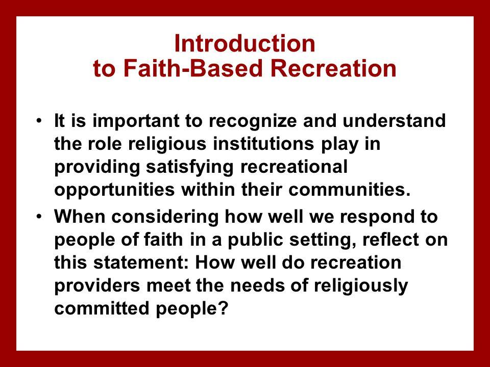 Introduction to Faith-Based Recreation