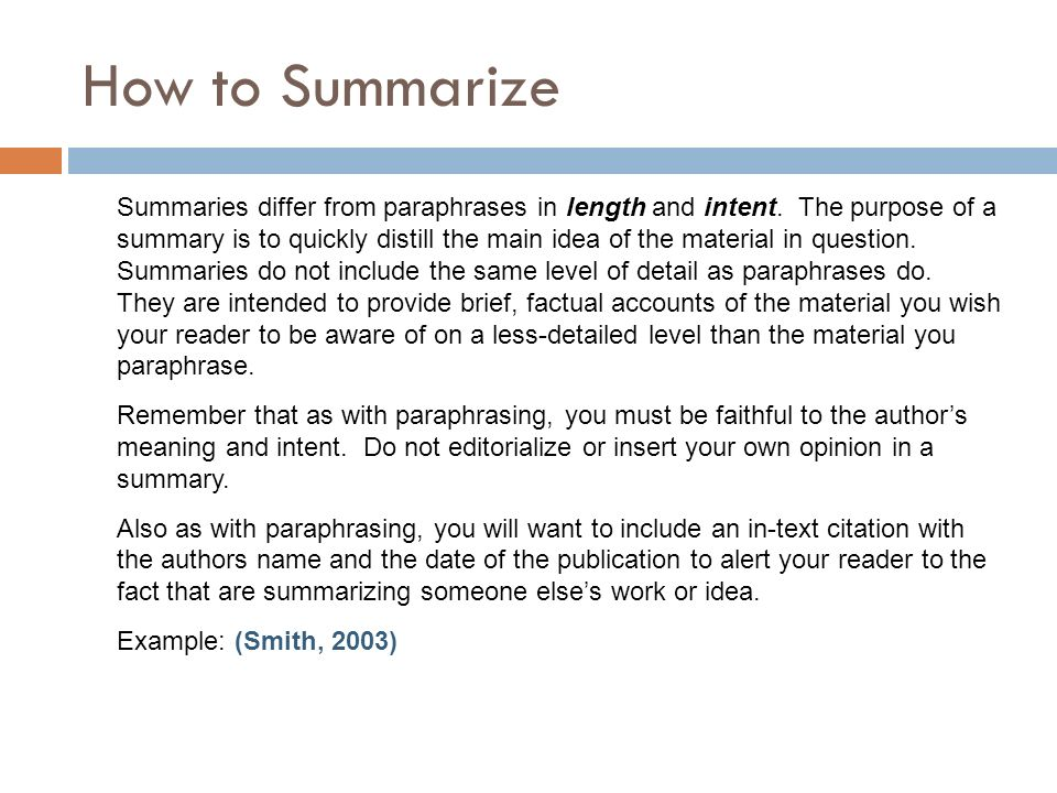 summary vs. paraphrase essay Summary: using it wisely   writing a summary of what you know about your topic before you start drafting your actual  as you read through your essay,.