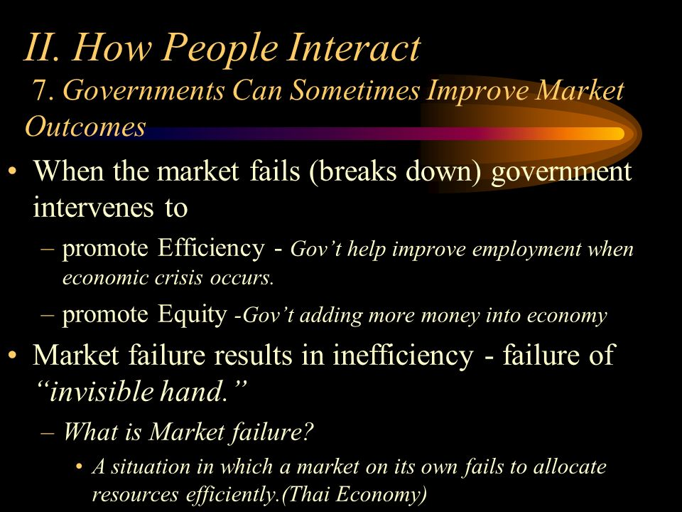 Lesson 7 government can sometimes improve market outcomes