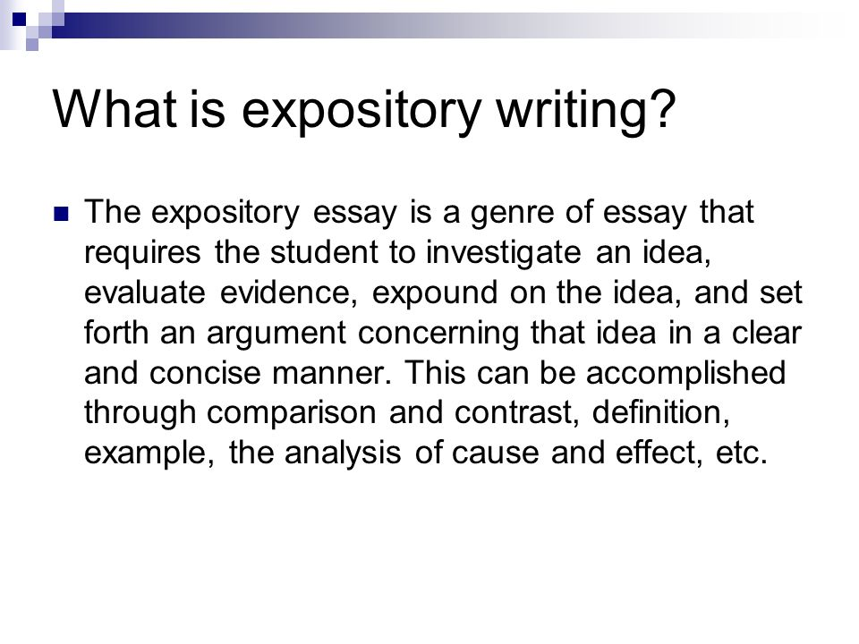 expository essay definition and examples