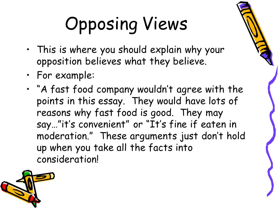 Opposing viewpoints essays