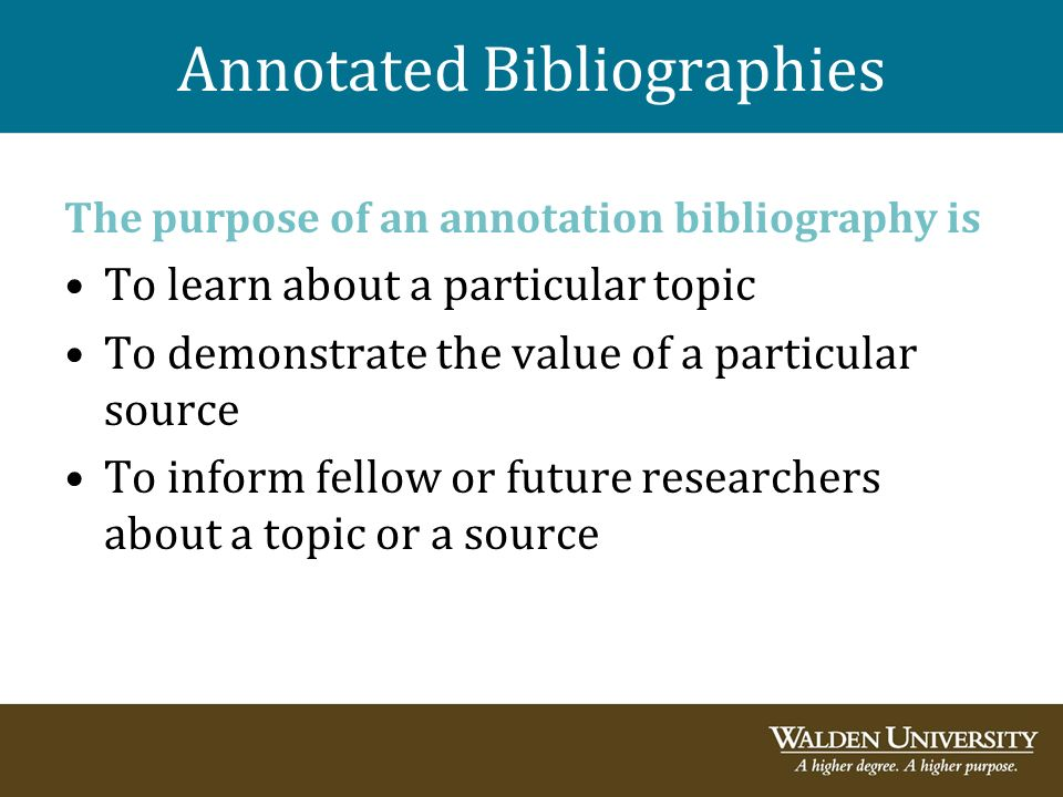 tiffles annotated bibliography