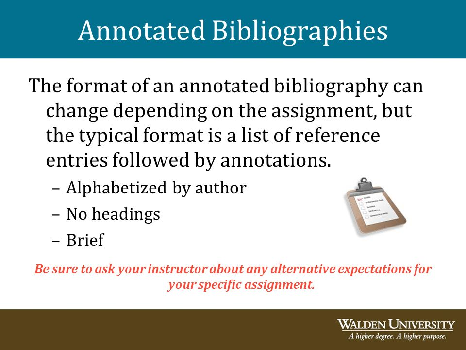 Example Of Annotated Bibliography Page SlideShare
