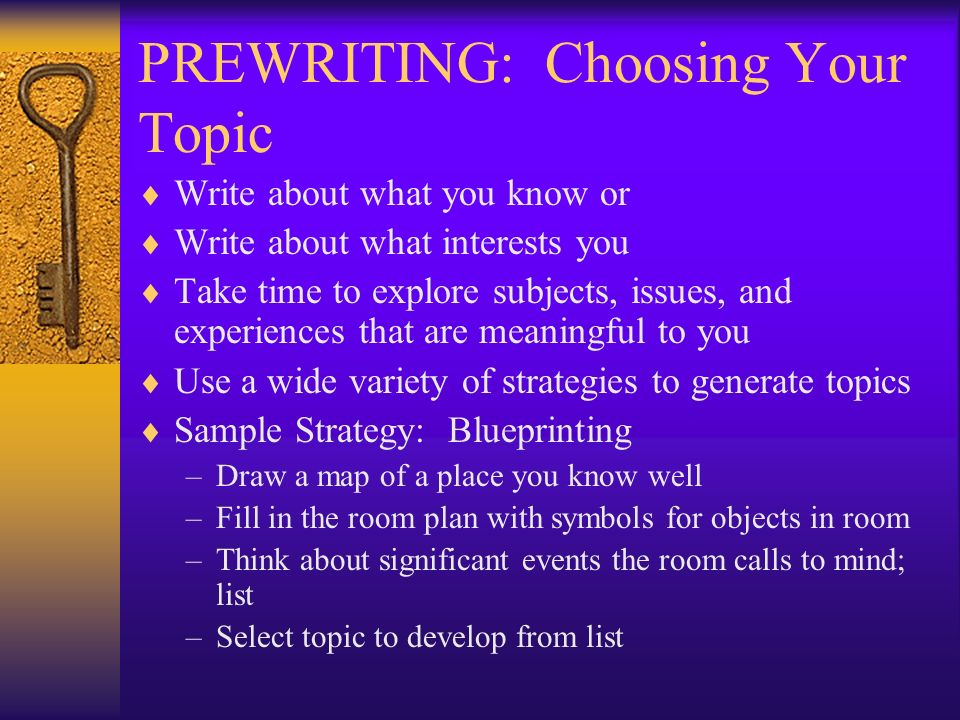 strategies for selecting a topic com 170 It will certainly help sarah get a grasp on the topic herself learning by attempting   selecting good search tools, including specialized ones use the terms and.