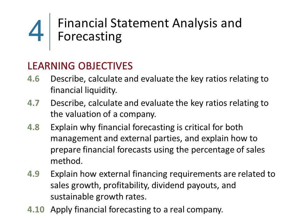 financial statement analysis and financial forecasting Challenges & limitations of financial forecast financial statements when performing their initial and ongoing credit analysis projected financial statements.