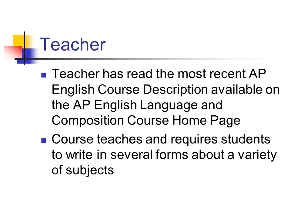 ap english language and composition reading Preface page a explanation of ap english language & composition summer reading assignment it is hoped you will enjoy reading the nonfiction selections which make up this assignment, but also.