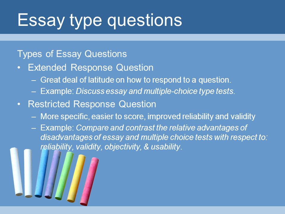 different types of essay formats There are four different types of writing styles: expository, descriptive, persuasive and narrative learn the definitions of each and the key differences.