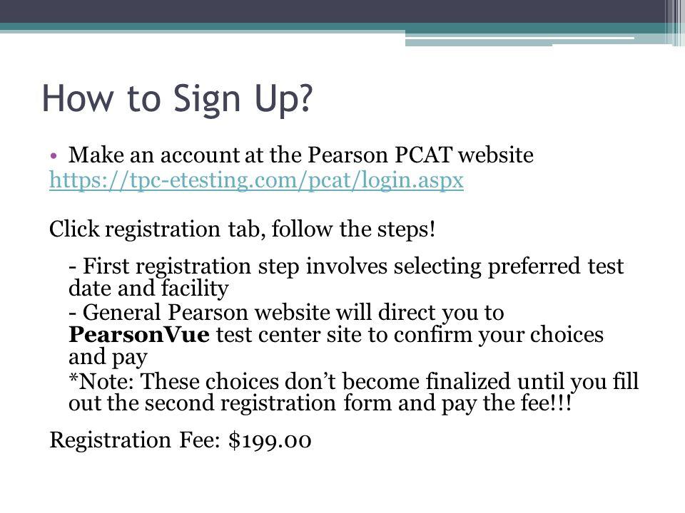 Pcat test dates in Australia