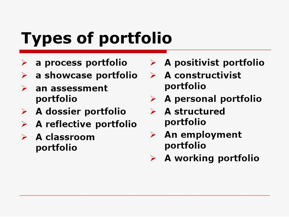 what is an employment portfolio