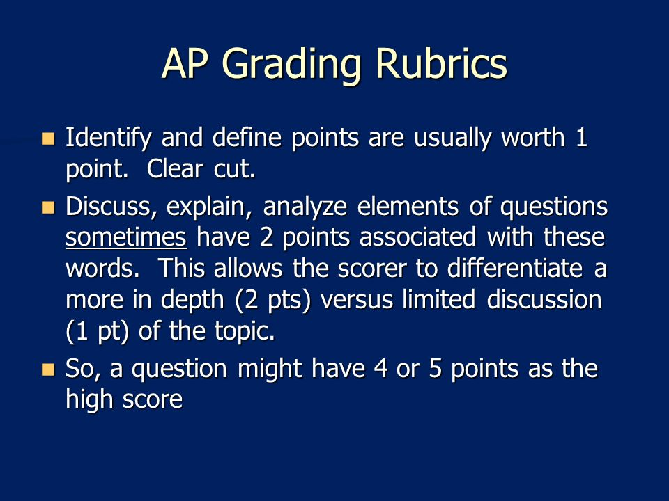 What is the apush essay grading