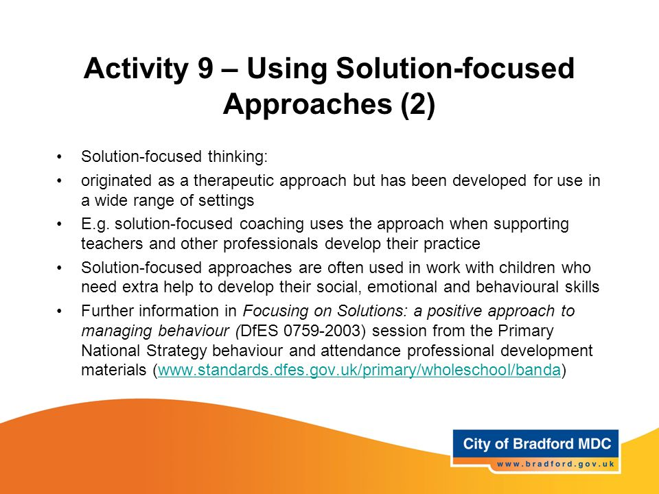 solution focused approach in social work pdf