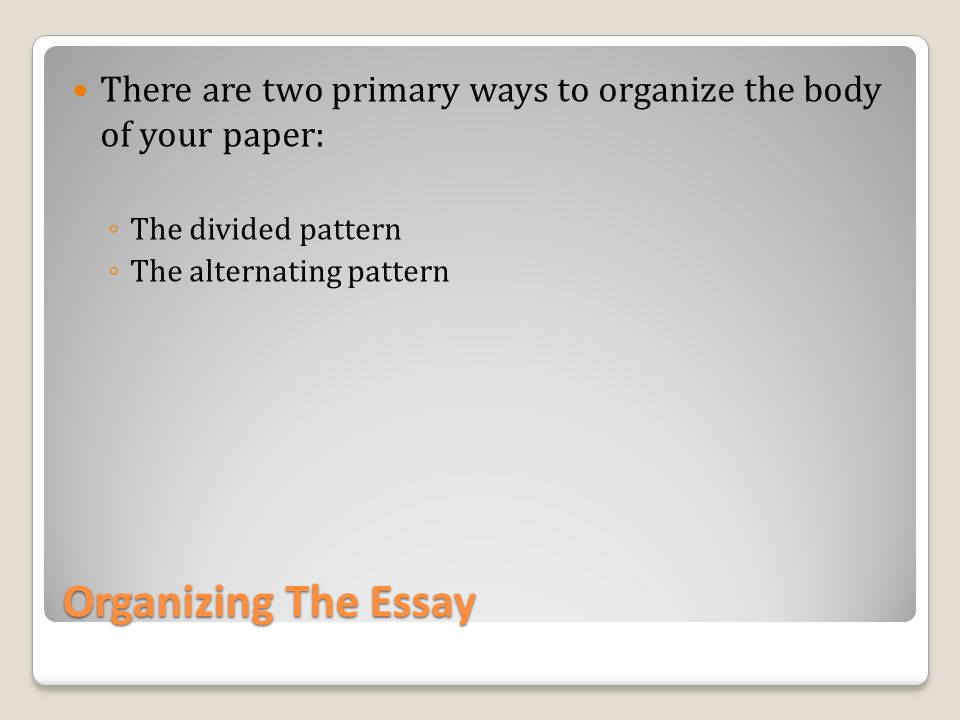 two ways to organize a comparison and contrast essay Compare and contrast essay teacher resource comparison and contrast are used in your writing to organize an individual.