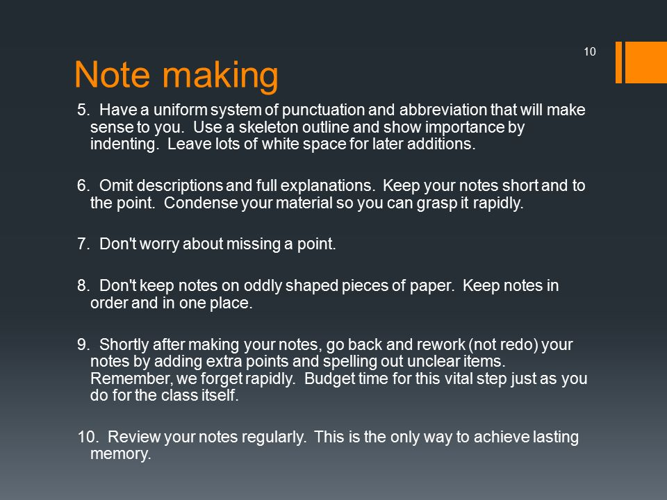 how to make abbreviations in note making