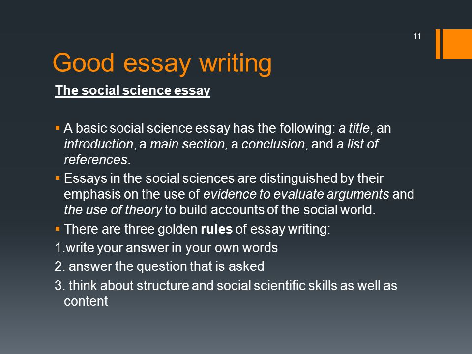 write good social science essay