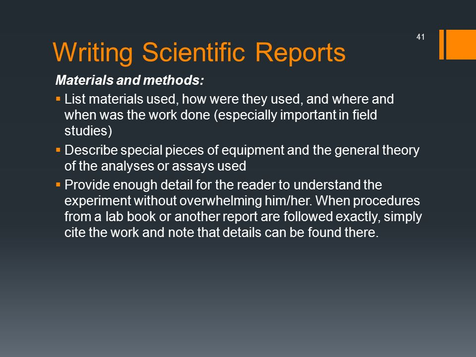 writing scientific reports Introduction to journal-style scientific writing consider this guide to be your instructions when writing lab reports for the biology core courses.