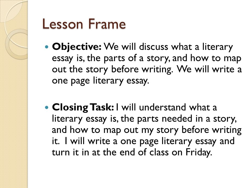 Writing a Literary Essay: Introduction