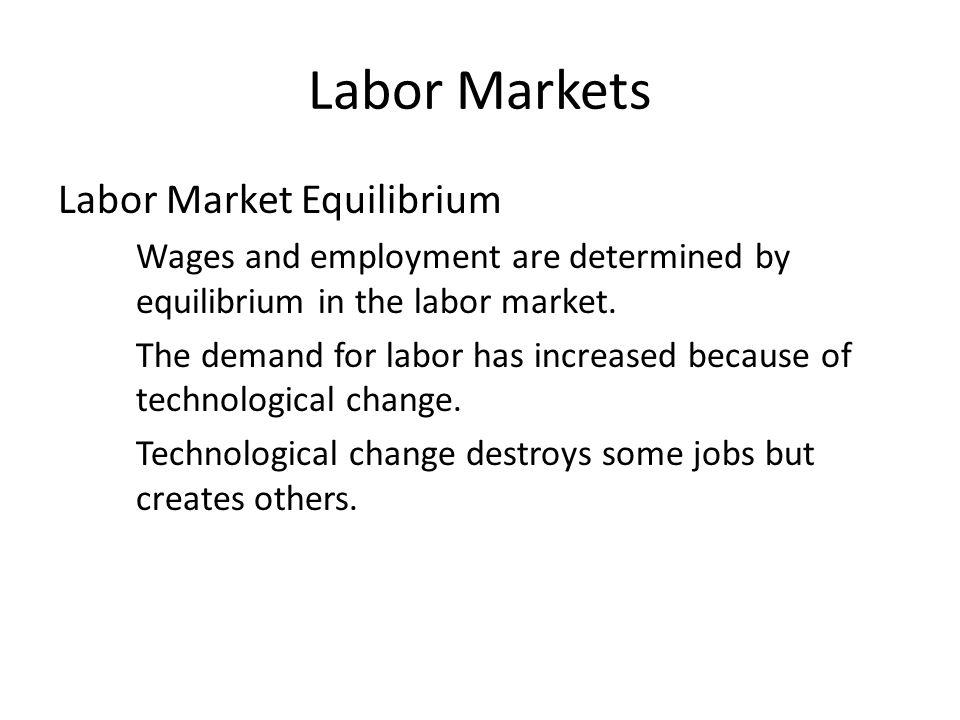 Labor Markets Labor Market Equilibrium