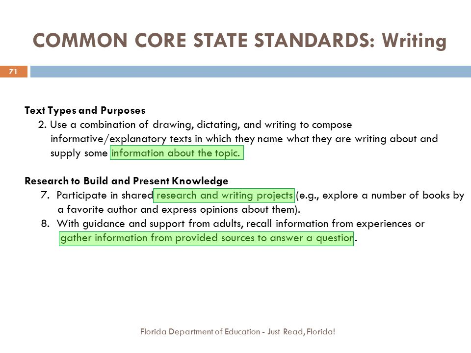 common core standards for writing K-12 english language arts learning standards washington formally adopted the washington state k-12 learning standards (common core state standards) for english language arts and mathematics assessments for these standards are currently in place.