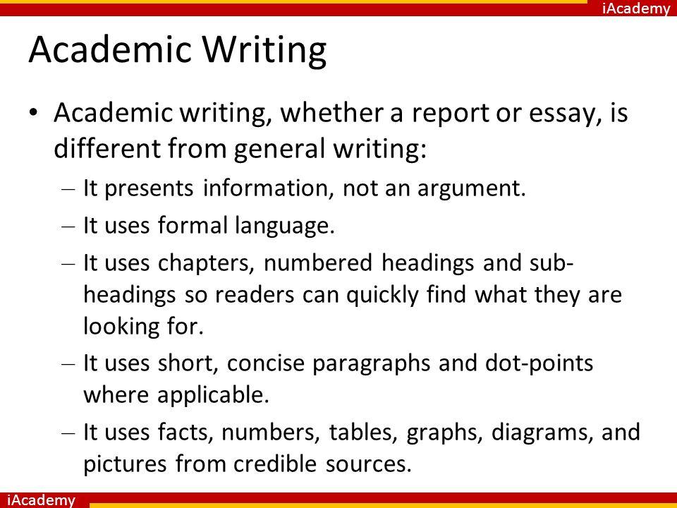 academic report writing format pdf