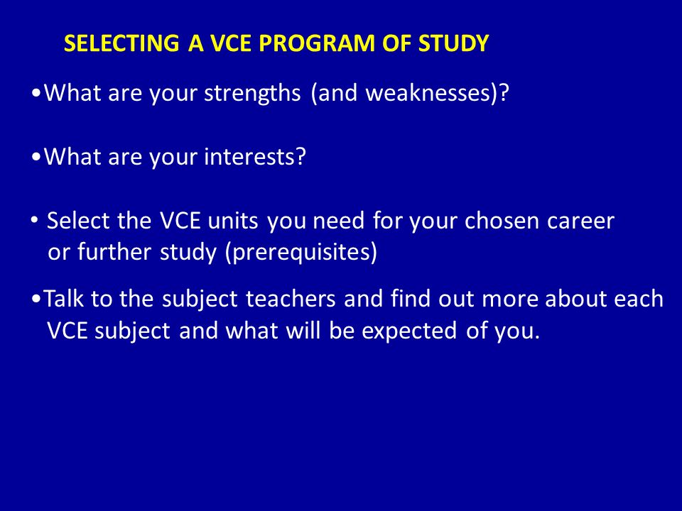 Why You Should Take A VCE Subject Early