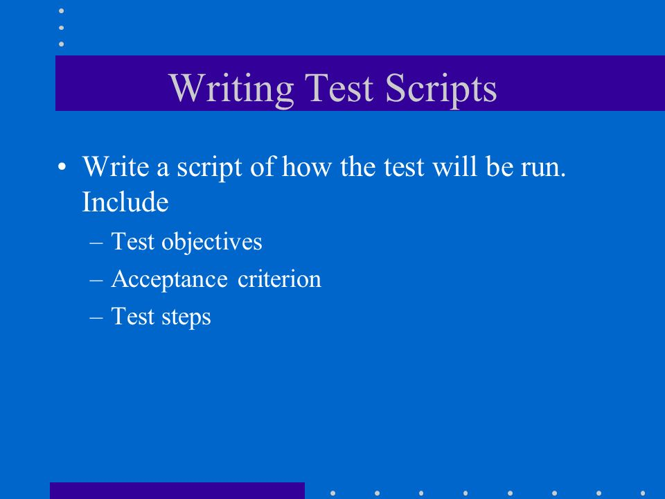 writing test scripts Html and script code tester  then click the test the html code button  the testing process will also test various scripts that are legal in html.